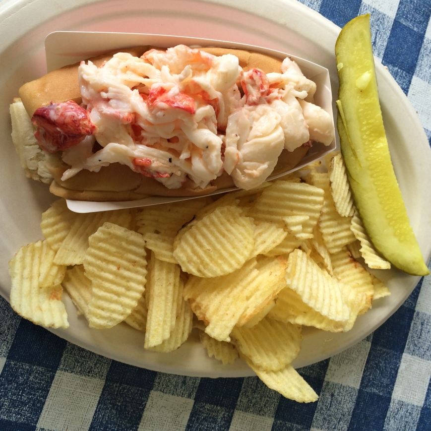 Lobster roll at Fisherman's Dock