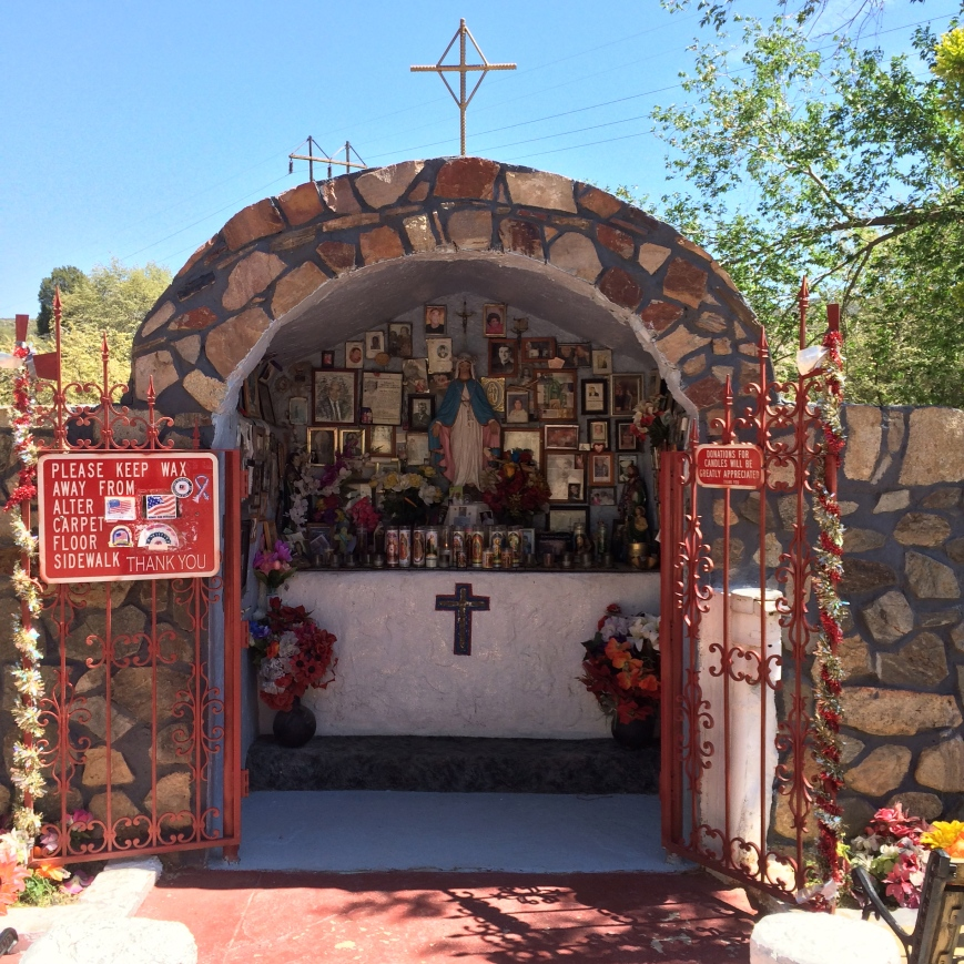 Roadside shrine in Miami AZ