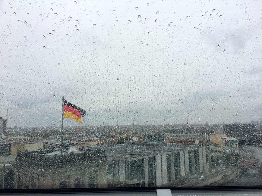 Sad German flag in the rain