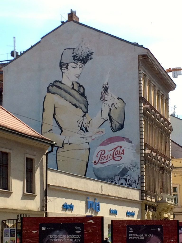 Old Pepsi Cola Ad Prague