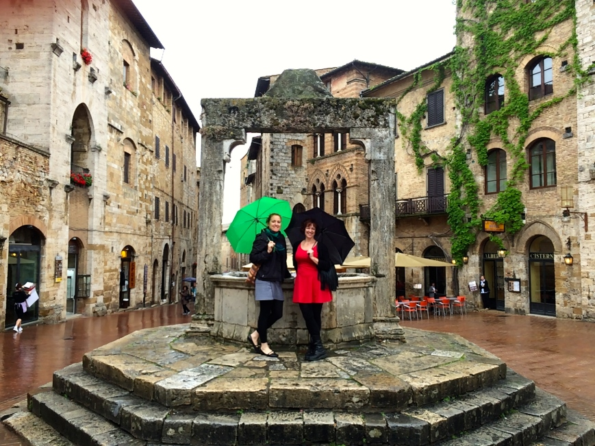 Sarah and Kaitlyn in San Gimignano