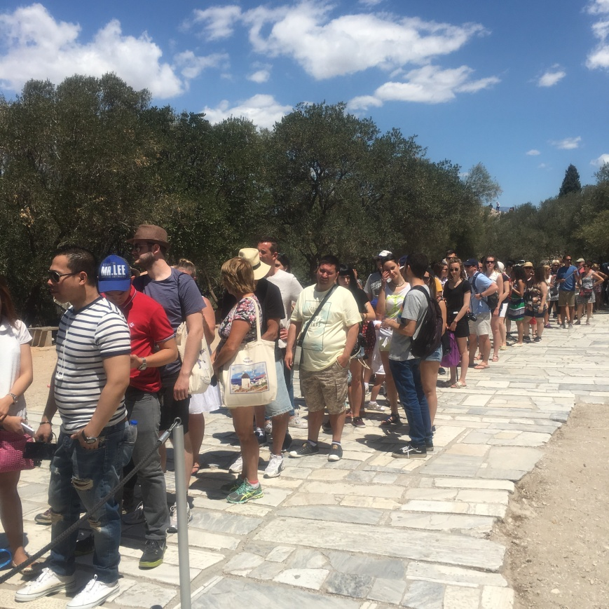 Acropolis ticket line