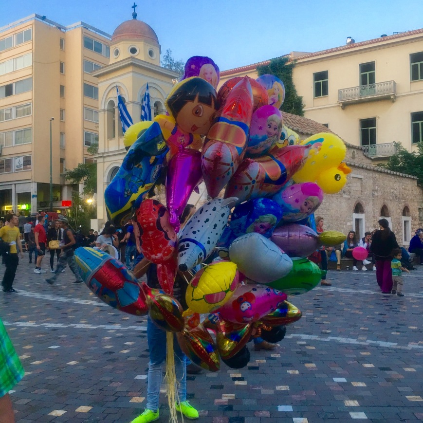 Athens Balloon Man